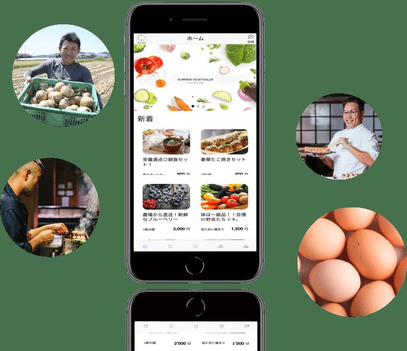CYCLE EATS(サイクルイーツ)のアプリ画面