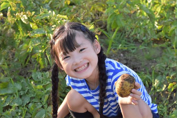 自分の手で収穫する事で食材の大切さを肌で感じる事ができます。